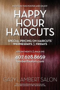 Happy Hour Haircuts with special pricing
